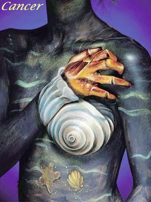 Zodiac Body Painting cancer body painting