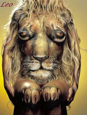 leo body painting pictures